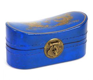 cadouri craciun - KLX-021C - cutie bijuterii, 21x10x10cm, albastru