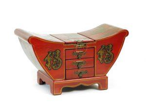 exotique - KLX-106C - cutie bijuterii, 37x17x31cm,  rosu2