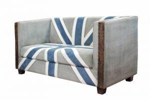 exotique - SG-76 - canapea, mat. textil si piele, 163x78x85cm - 5490ron