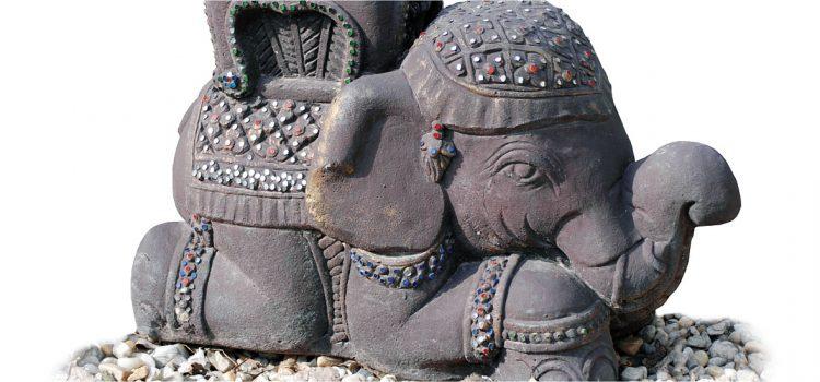 Feng Shui în grãdinã – 7 beneficii ale statuetei Elefant